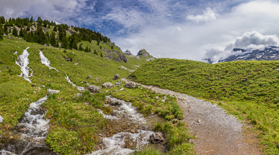 The weatherimproved a lot after I passed Engstlenalp.