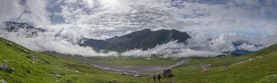 The beautiful plateau at Engstligenalp