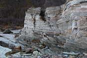 Rock formations at Oldervik