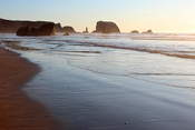 The beach at Bandon close to sunset, views were just getting better and better...