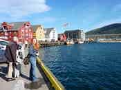 Tromsø city centre on a beautiful sunny (but windy!) day