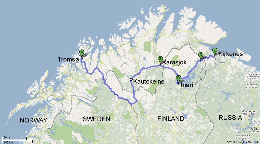 Russia Trip Part Tromsø To Kirkenes Rotterdam Or Anywhere - Norway map tromso
