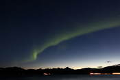 Auroras against the sunset sky - this was at 23:25 and it's still not dark