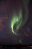 The aurora is almost shaped like a heart :)