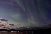 Often the auroras were not very bright, but they were visible all over the sky!