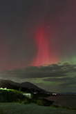 A red beam of aurora