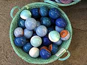 Ceramic balls - loved the colours!