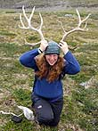 I found a big set of antlers!