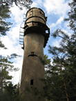 An old Russian watch tower - Paul was brave enough to climb up!