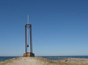A memorial for the MS Estonia, that sunk not so far from here on 28 September 1994, claiming 852 lives. The bell will ring in strong winds...