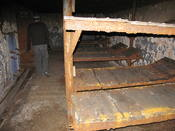 Bunk beds in a bunker... cosy! But they did have electricity then, so I am sure it used to be nicer