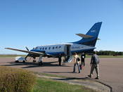 The small plane at Kärdla airport