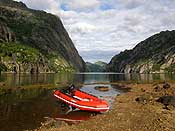Our boat in Trollfjord