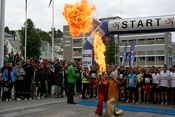 The firebreathers at the start