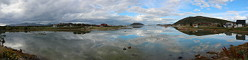 While there was hardly any wind at Sommarøy... lovely reflections in the water!