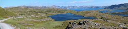 Panorama from the road towards Dønnesfjord - spectacular!