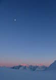 The moon over the Lyngen Alps